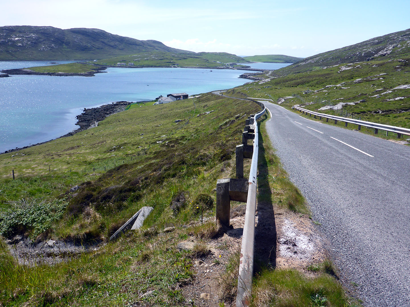 36 Barra looking at causeway to Vatersay