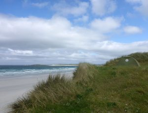 45 Tent high on dunes Traigh Iar