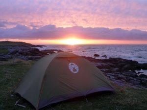 56 Tent Halaman Bay sunset