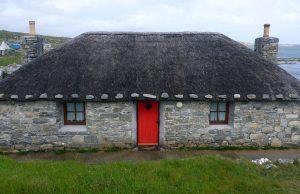 71 House with red door