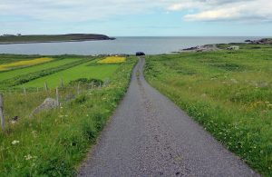 155 Road from Port Mhor Bragair to Bragar village & main road