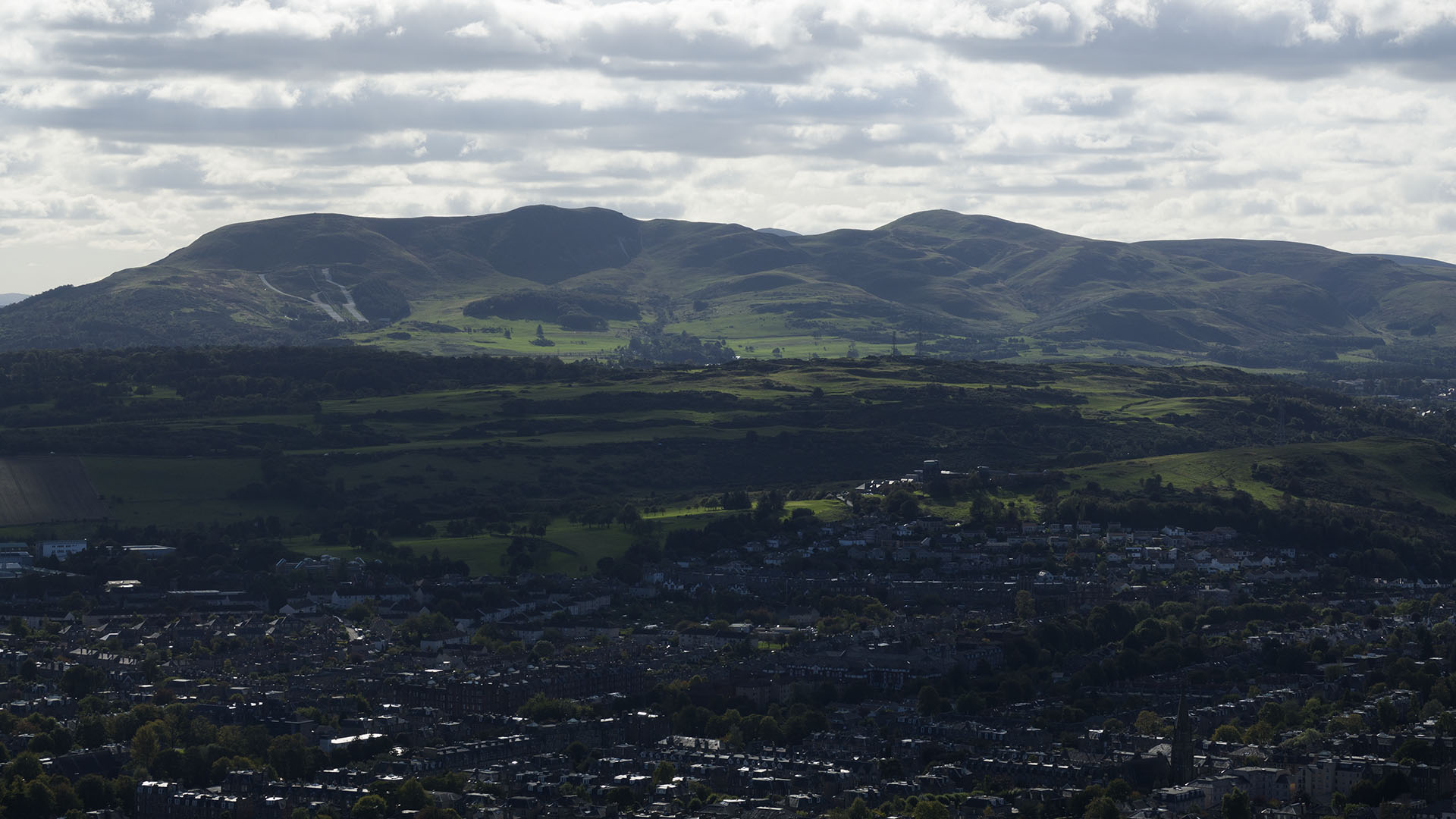 Pentlands from summit