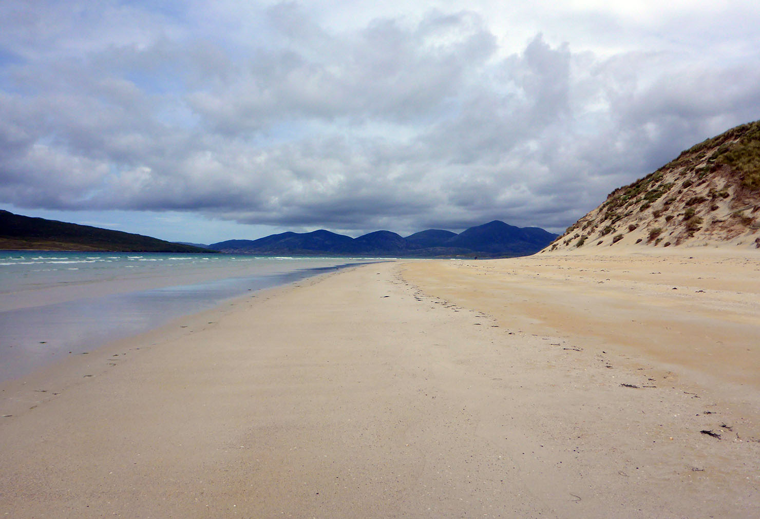 100 Harris hills from Luskentyre beach